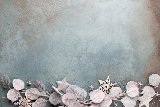 Nieuwjaarsviering en kerstmisachtergrond