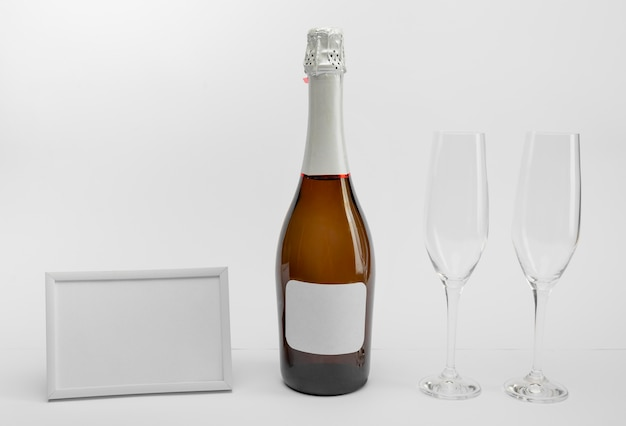 Nieuwjaarsviering met champagne