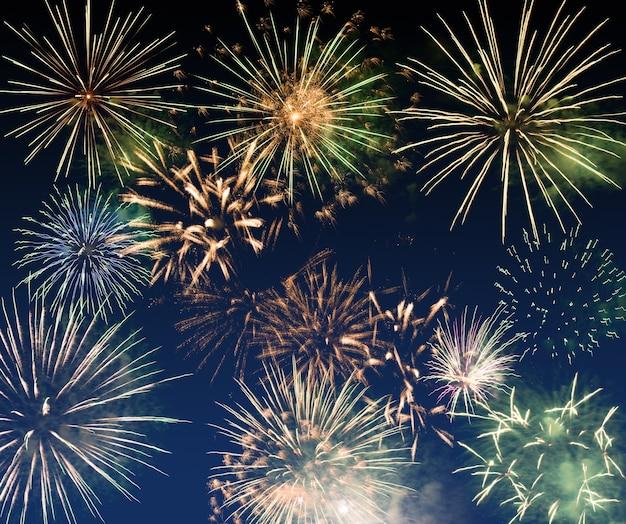 Nieuwjaarsvuurwerk, nieuwjaarwensenconcept