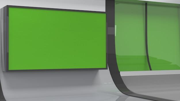Nieuws studio achtergrond voor tv shows tv op wall3d virtuele nieuws studio achtergrond 3d illustratie