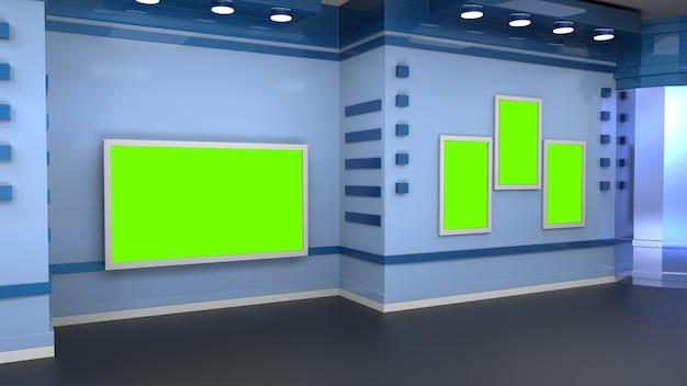 Nieuws studio-achtergrond voor tv-shows