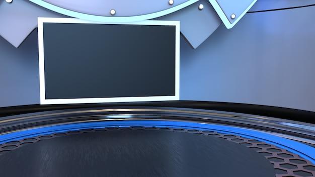 Nieuws studio voor tv-shows 3d illustratie