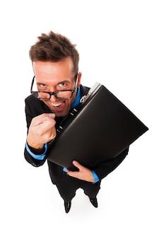 Nieuwsgierige fiscaal agent die bij u aanklopt