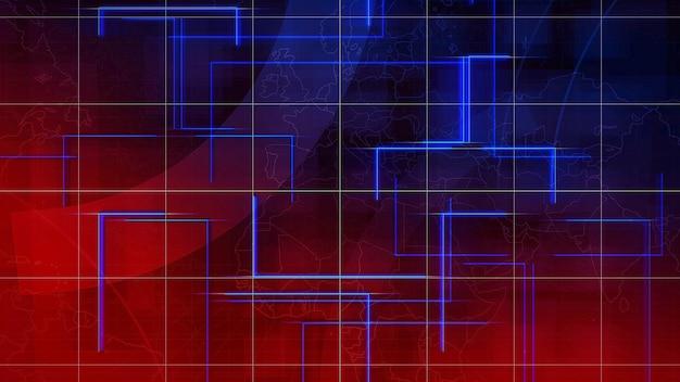 Nieuwsintro grafische animatie met lijnen en wereldkaart