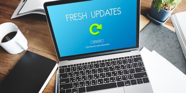 Nieuwste versie nieuwe updates applicatie-updates concept