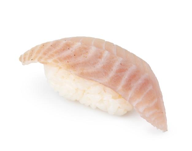 Nigiri sushi stuk geïsoleerd op een witte achtergrond