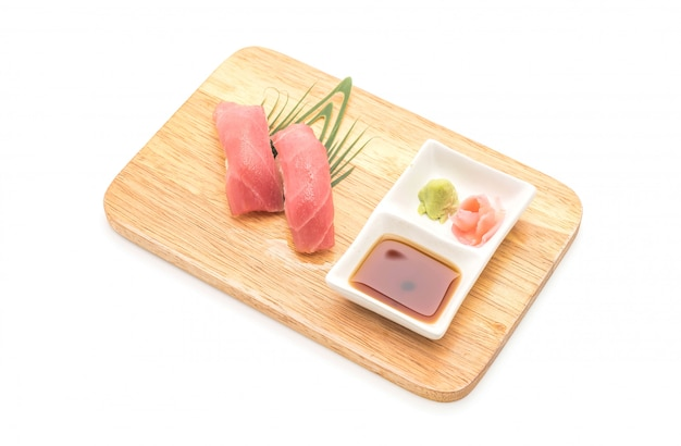 Nigirisushi van de tonijn - japanse voedselstijl