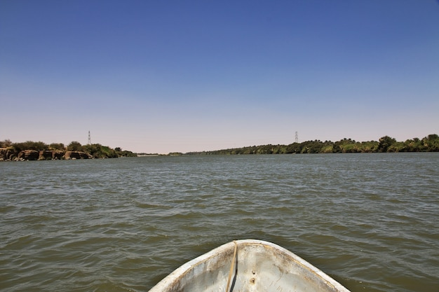 Nijl rivier dichtbij sai eiland, soedan
