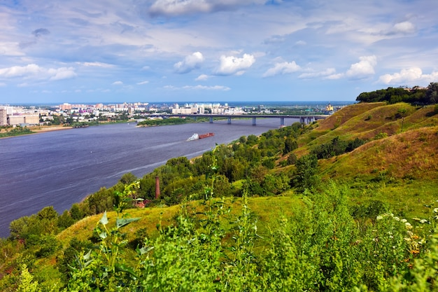 Nizhny novgorod met oka rivier