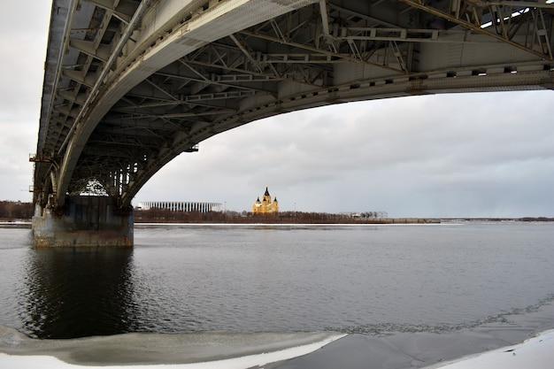 Nizjni novgorod. rivier, brug