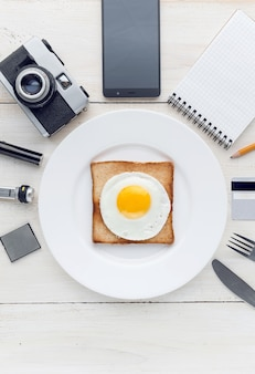 Nog steeds ontbijt perfectionist hipster