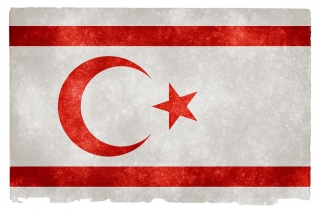 Noord-cyprus grunge vlag