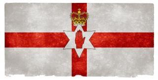 Noord-ierland grunge vlag