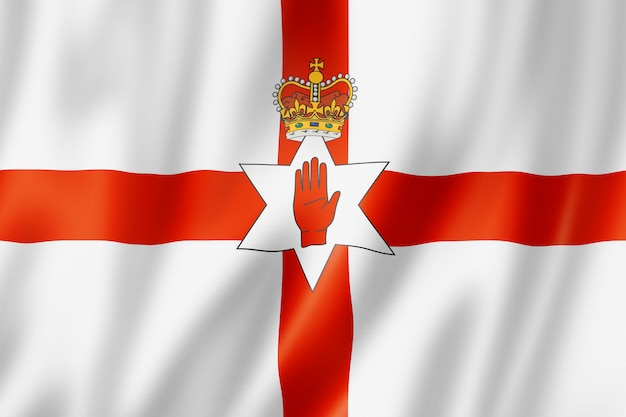 Noord-ierland, ulster-vlag, het uk