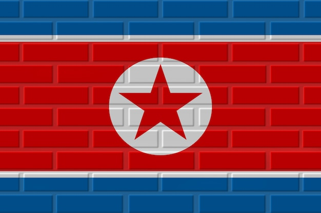 Noord-korea baksteen vlag illustratie
