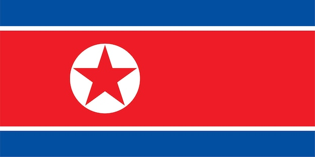 Noord-koreaanse vlag van noord-korea