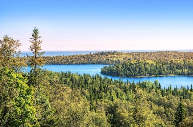 Noordelijk bos, meer en de witte zee