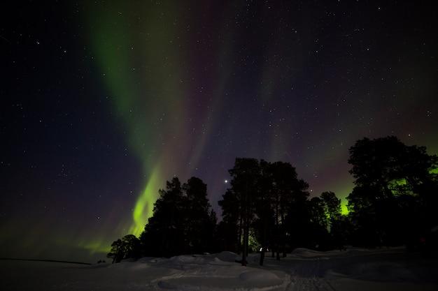 Noorderlicht in inari lake