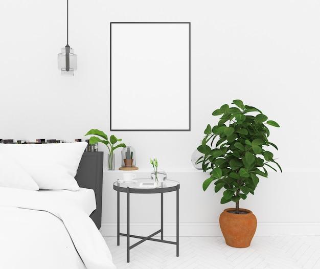 Noordse slaapkamer - verticaal frame
