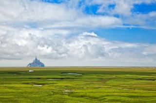 Normandy grasland hdr weide