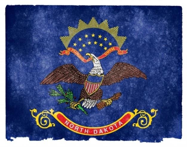 North dakota grunge vlag