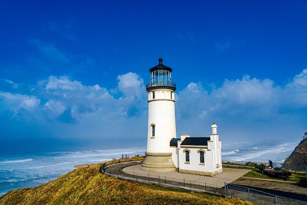 North head lighthouse aan de pacifische kust in de staat washington
