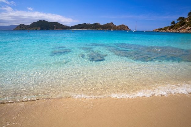 Nostra senora-strand in islas cies-eilanden van vigo