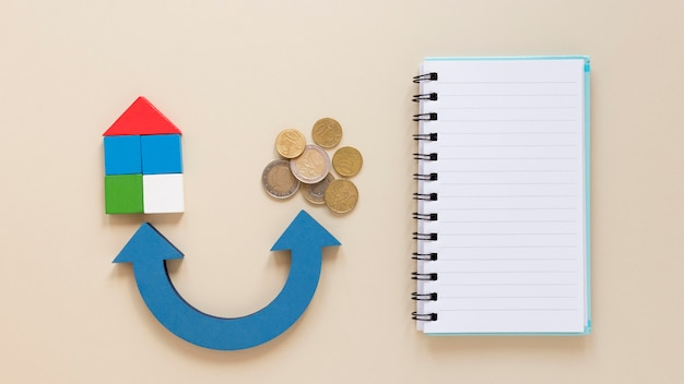 Notebook en munten