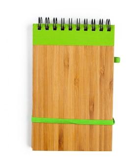 Notebook geïsoleerd op wit