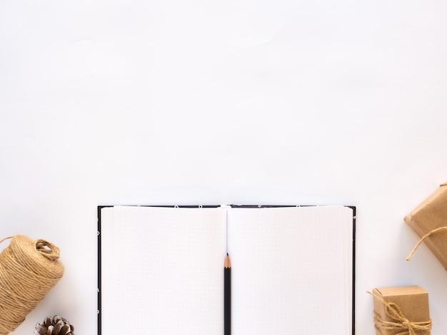 Notebook geschenkdozen touw