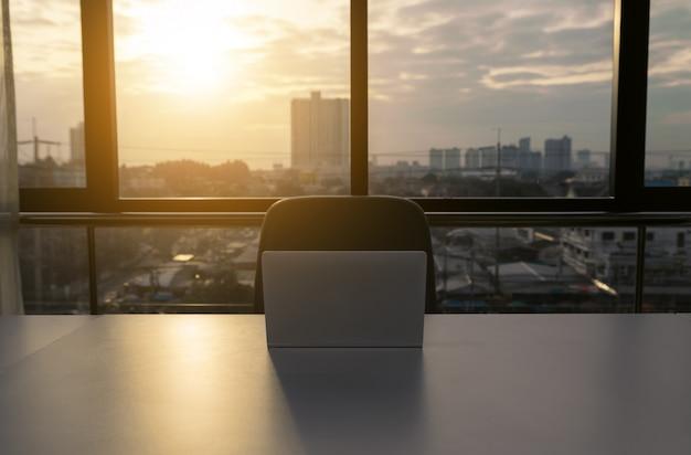Notebook laptop op kantoor