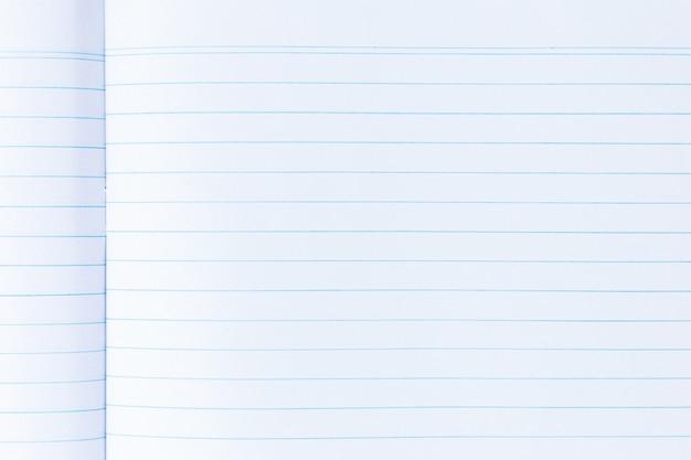 Notebookpagina met lijndocument textuur voor achtergrond