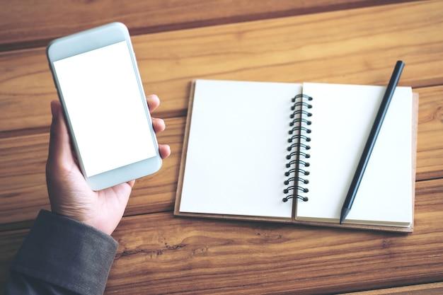 Noteer en gebruik mockup smart phone