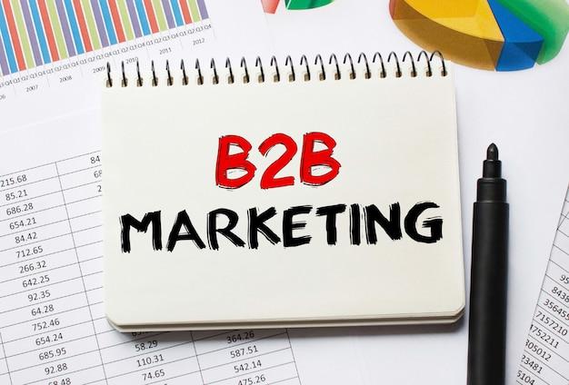 Notitieboekje met tools en notities over b2b-marketing