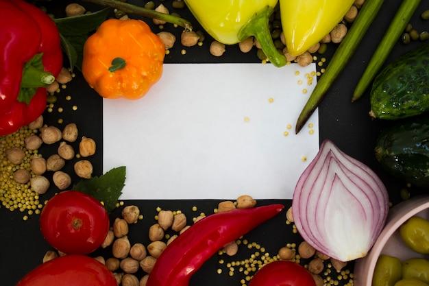 Notitieboekje voor notities met groenten