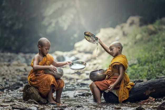 Novice monk in thailand