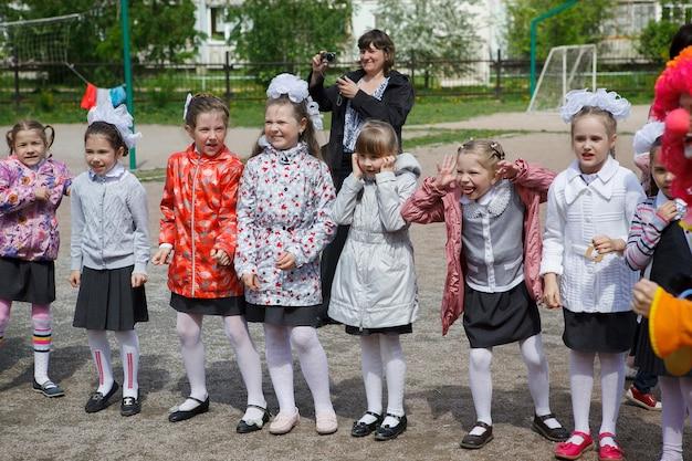 Novosibirsk, rusland, 20 mei 2016: kinderdag met