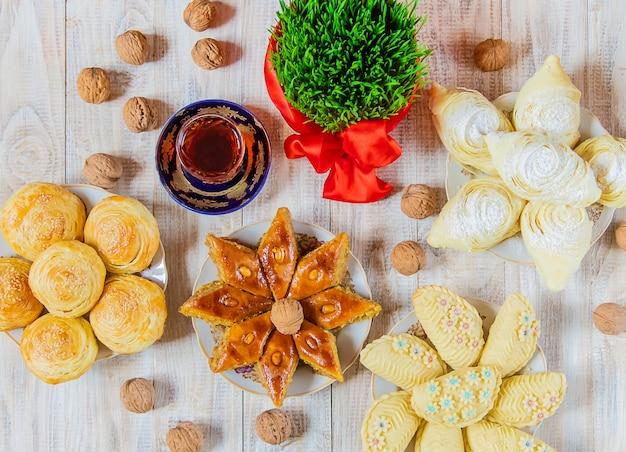 Novruz. azerbeidzjaanse tradities. nieuwjaar. selectieve aandacht.
