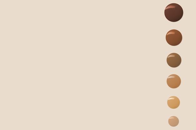 Nude cirkel klodder achtergrond in beige