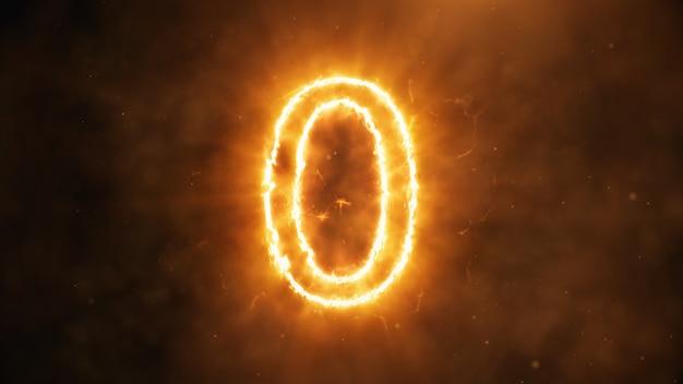 Nummer 0 in vlammen