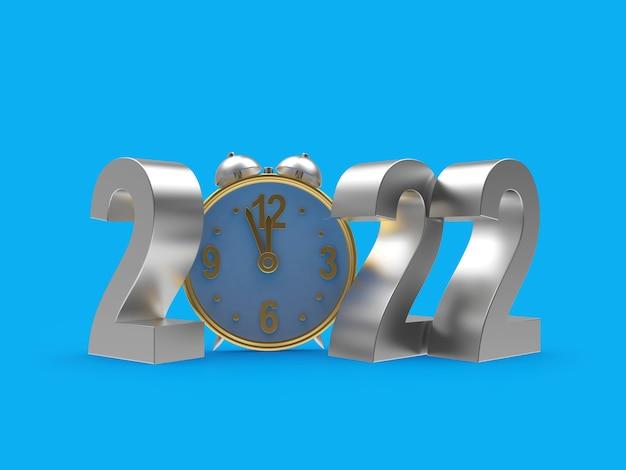 Nummer van het nieuwe jaar met een wekker