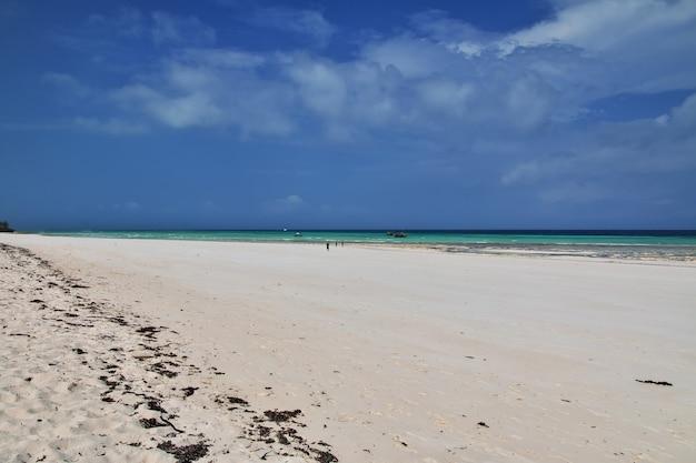 Nungwistrand in het eiland tanzania van zanzibar