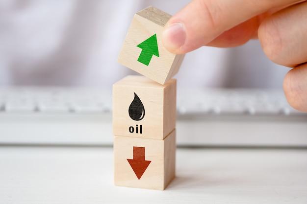 Observatieconcept voor stijgende olieprijzen.