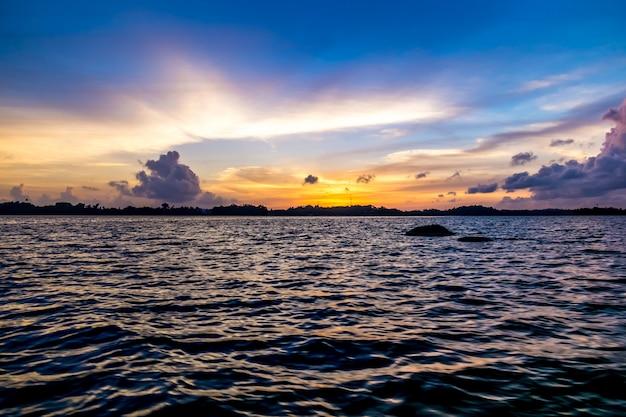 Oceaan zonsondergang
