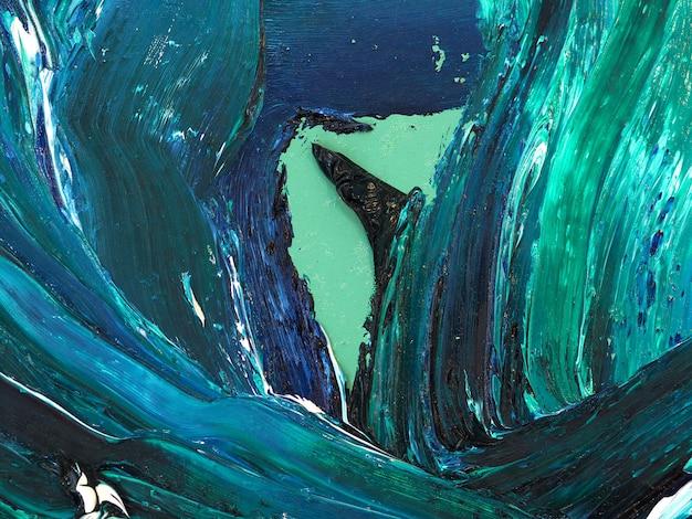 Oceaangolven. motie die kleurrijke textuur schilderen abstracte achtergrond heldere kleuren artistieke plonsen.