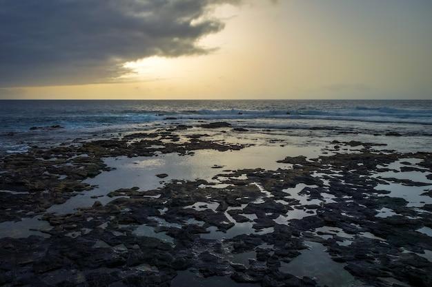 Oceaanmening in santo antao-eiland, kaapverdië
