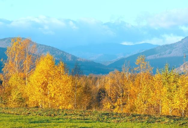 Ochtend karpatische berg herfst landschap