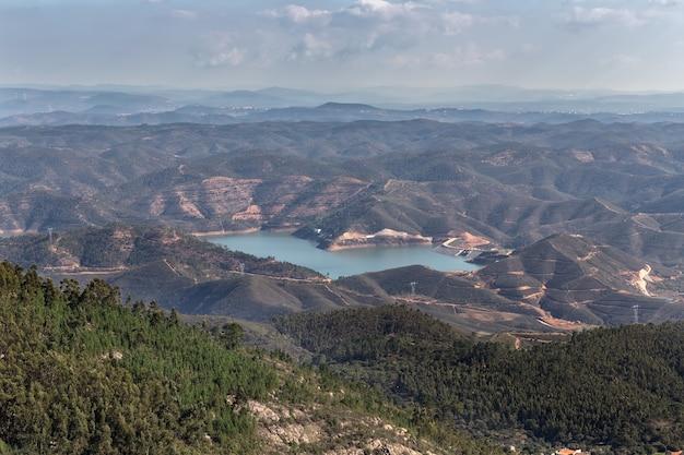 Odelouca-dam in monchique. portugal, algarve.