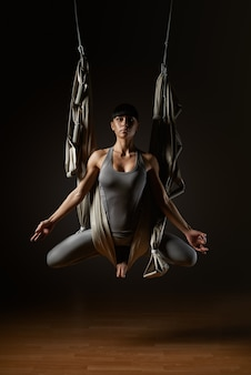 Oefen hangmat yoga