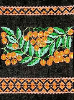 Oekraïens handborduurwerk geborduurd folkornament borduurontwerp in retrostijl
